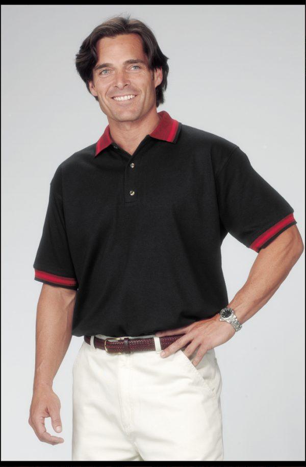Polo - Waffle Weave (striped)