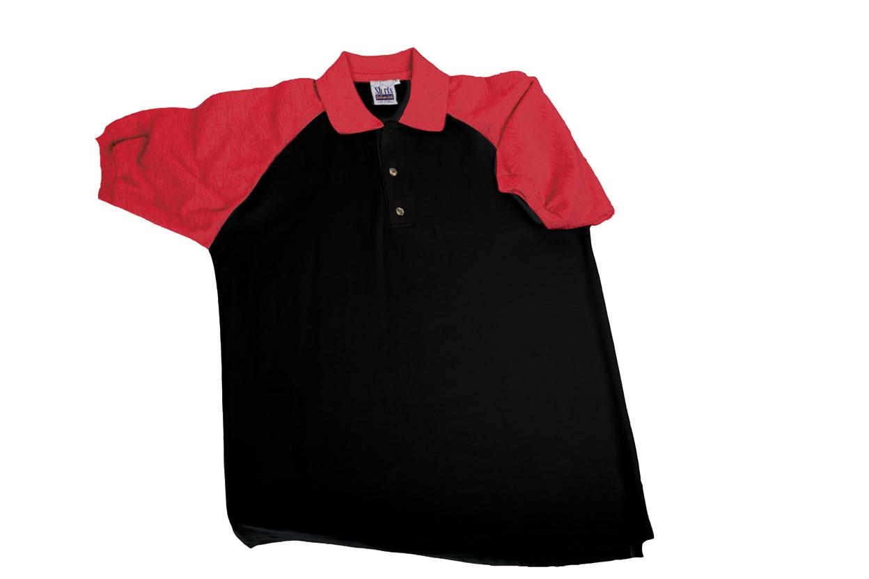 Polo Dual Color Raglan Sleeves Shirts Unlimited